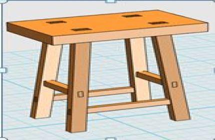 单人木制凳子
