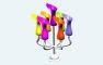 创意七彩花瓶架
