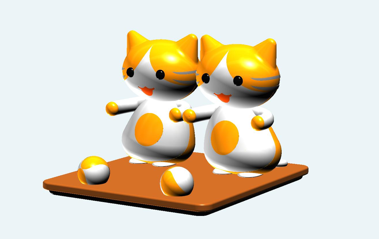 猫咪and球·手机支架.png